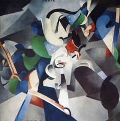 Francis Picabia - Udnie, Young American Girl, 1913, oil on canvas, 300 x 300 cm. Francis Picabia was a French painter, poet, and typographist, associated with Cubism, Abstract art, Dada and Surrealism.
