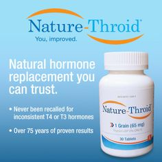 Discover the Nature-Throid difference. #thyroid #hypothyroidism