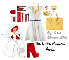 The Little Mermaid: Ariel by taylormarieallen on Polyvore featuring polyvore, fashion, style, Closet, Dolce Vita, Domo Beads, The Rubz, BaubleBar, Clinique, Lancôme and Essie