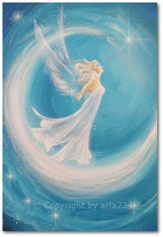 Limited angel art photo, modern angel painting, artwork, acrylics, Engelbild