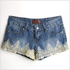 Mayuki Tokyo Fashion Lace Detail Women Adorable Denim Shorts | eBay