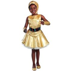 New for 2016 - Sign up for an inventory notification on the product page! Classic C-3PO Girls Dress Costume - Star Wars Kids Costumes