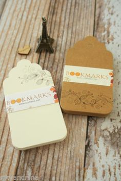 shabby chic rustic Bookmarks FLORAL SCALLOP swing hang Tags craft shop label, £5.00 | eBay