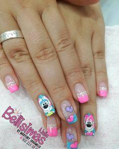 Luv Nails, Fingernails Painted, Heart Nail Art, Disney Nails, Stylish Nails, How To Do Nails, Pedicure, Nail Art Designs, Hair Beauty