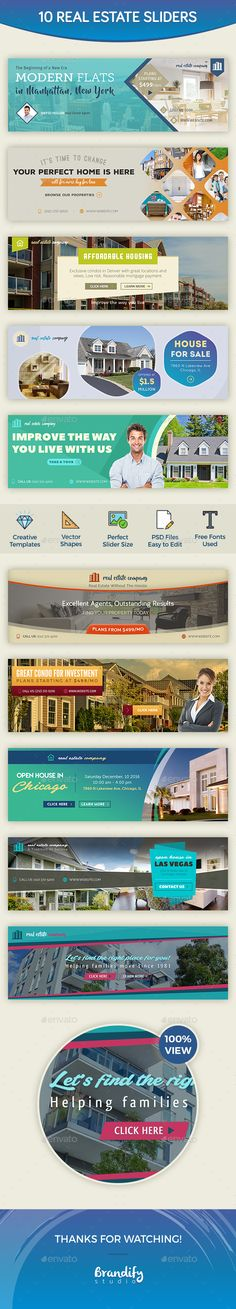 Real Estate Sliders Design Template - Sliders & Features Web Elements Design Template PSD. Download here: https://graphicriver.net/item/real-estate-sliders/18676308?ref=yinkira