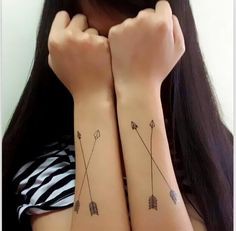 Tiny Arrows Temporary Tattoo Tattoo Stickers | Etsy Queen Tattoo, Real Tattoo, Pink Lotus, Temporary Tattoo, Arrows, Digital Prints, Stickers, Trending Outfits