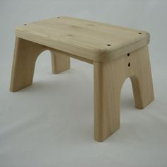 Unfinished Step Stool Wooden Wood Alder Children by LaffyDaffy Easy Wood Projects, Woodworking Projects That Sell, Woodworking Bench Plans, Small Wooden Stool, Wooden Stools, Kids Craft Tables, Composite Adirondack Chairs, Wood Steps, Craftsman Furniture