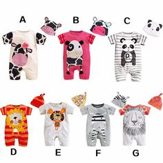 Awesome Baby Boy Clothes 2017 Summer Baby Girls Clothing Sets Cotton Baby Rompers Newborn Baby Clothes Roupas Bebe Infant Jumpsuits - $15.78 - Buy it Now!