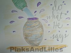 John 2:5  - trying out the Watercolor pencils again