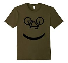Smiley Face Cycling Bicycle T-Shirt. This will put a smile on your face! A perfect gift for cycling enthusiasts.