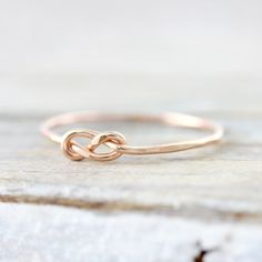 Infinity knot ring  recycled sterling silver or gold filled