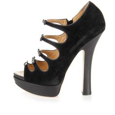 Dsquared2 Women Open toe sueded pumps laced effect - Spence Outlet