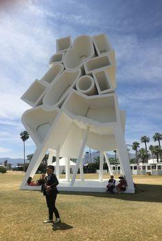 The Tower of Twelve Stories, Jimenez Lai at Coachella Music & Art Festival 2016 Festival 2016, Art Festival, Urban Furniture, Public Art, Coachella, Street Art, Tower, Sculpture, Statue