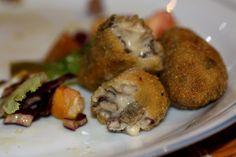 Lazy Blog: Croquetas de Angulas (de Monte) Lazy, Eggs, Chicken, Meat, Breakfast, Blog, Appetizers, Cooking, Family Meals
