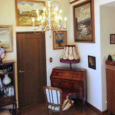 hopeさんの、机,シャンデリア,ロココ,装飾,フレンチ,イタリア家具,ビューロー,ビューローデスク,アンティークシャンデリア,フランスアンティーク,ルイ15世,象嵌細工,のお部屋写真