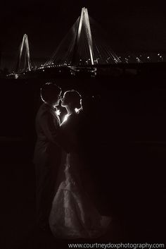 View of the bridge at Harborside East. #charlestonvenues #beautifulview courtneydoxphotography.com