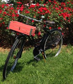 from Marcello in Maranello - Italy — Laurel bicycle crate in savanne red and with black logo