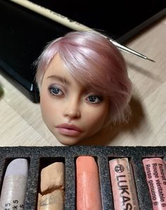 Все ближе к финалу✅ Скоро в продаже! / Almost done ✅ Soon on sale Custom Monster High Dolls, Monster High Repaint, Custom Dolls, Doll Tutorial, Doll Repaint Tutorial, Doll Makeup, Reborn, Realistic Dolls, Doll Painting
