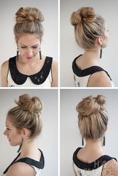 Pleasant Google Images Messy Bun Tutorials And Buns On Pinterest Short Hairstyles Gunalazisus