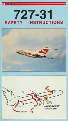 TWA boeing safety card for seat pocket. Tupolev Tu 144, Domestic Airlines, Boeing 707, Best Airlines, Air Photo, Vintage Air, Aircraft, Airplanes, Transportation