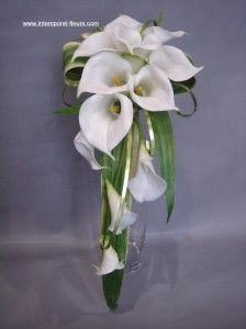 bouquet de mariée arum - Recherche Google Lily Bouquet, Flower Bouquet Wedding, Boquet, Calla Lillies, Calla Lily, Wisteria Wedding, Bride Bouquets, Floral Arrangements, Marie