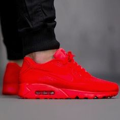 NIKE AIR MAX 90 RED MEN'S US SIZE 7-12 NEW BOX NO OCTOBER YEEZY HYPERFUSE JORDAN…