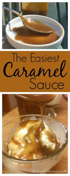 This easy caramel sauce is perfect to whip up for a spontaneous ice cream sundae. This easy caramel sauce is perfect to whip up for a spontaneous ice cream sundae or dipping slices of apples. Caramel Sauce Easy, Homemade Caramel Sauce, Caramel Recipes, Carmel Sauce Recipe, Caramel Ice Cream Topping Recipe, Desserts Caramel, Caramel Dip, Sundae Toppings, Ice Cream Toppings