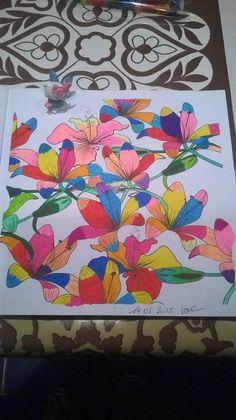 coloriage anti stress esprit floral
