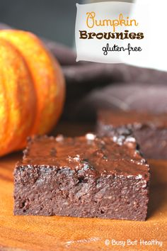 Pumpkin Brownies - gluten free, low fat, fudgey and delicious!