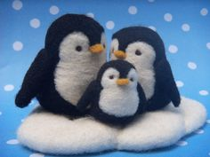 needle felt penguins