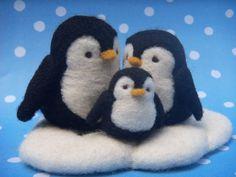 needle felt penguins
