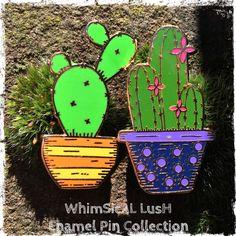 Cactus Enamel Pins!  Now available from my Etsy shop https://www.etsy.com/uk/listing/468874048/cactus-enamel-pins-by-whimsical-lush  #cacti #succulent #pingamestrong #enamelpin #enamelbadge #whimsicallush #illustration
