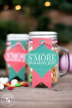 Cute DIY Mason Jar Gift Ideas for Teens - S'mores Mason Jar - Best Christmas Presents, Birthday Gifts and Cool Room Decor Ideas for Girls and Boy Teenagers - Fun Crafts and DIY Projects for Snow Globes, Dollar Store Crafts and Valentines for Kids