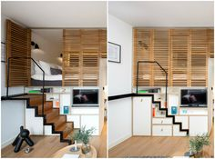 Hotel room boasts retractable staircase and hideaway loftbed