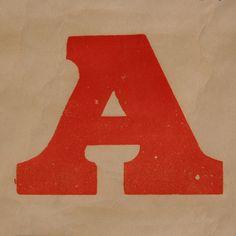 letter A by Leo Reynolds, via Flickr
