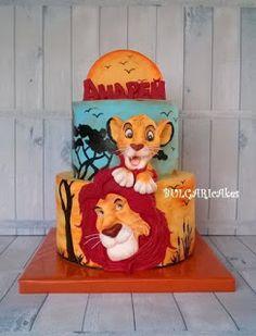 Circle of life… Lion Cakes, Lion King Cakes, Lion King Party, Lion King Birthday, Lion King Baby Shower, Jungle Cake, Le Roi Lion, Character Cakes, Disney Cakes
