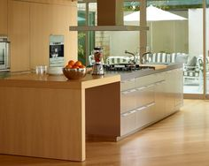 accessible kitchen. the rolling carts are great. | ada / universal