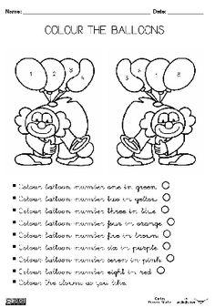 Colour the balloons