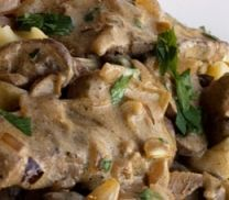Beef Stroganoff with Mushroom (Atkins Diet Phase 1 Recipe) | Diet Plan 101