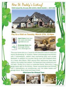 Clover Vines - Real Estate Flyer Sample www.ZipYourFlyer.com - Email Your Listing to 1000's of Agents in Your Area! Order Print Flyers! Visit us at www.zipyourflyer.com to view 100's of eflyer designs to choose from. #RealEstateFlyer #EFlyer #PrintFlyer #RealEstate #Realtor #Realty #Broker #ForSale #NewHome #HouseHunting #MillionDollarListing #HomeSale #HomesForSale #Property #Properties #Home #Housing #Listing #JustListed #ZipYourFlyer #WantToMove #BuyMyHouse