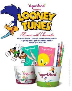 Yogurtland Looney Tunes merchandise