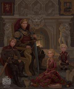 The Lannister family portrait circa 275 AC by raymondwaskita : gameofthrones