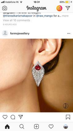 59974ced0 Small Earrings, Diamond Earrings, Ears, Boucle D'oreille, Curls, Diamond