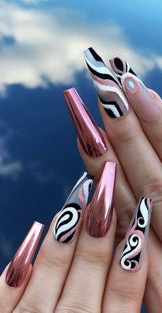 Top 100 acrylic nail designs from May Page 36 - Nails - . - Top 100 acrylic nail designs from May Page 36 – Nails – - New Nail Designs, French Nail Designs, Acrylic Nail Designs, Coffin Nail Designs, Blog Designs, Fancy Nails, Cute Nails, Pretty Nails, Long Nail Art