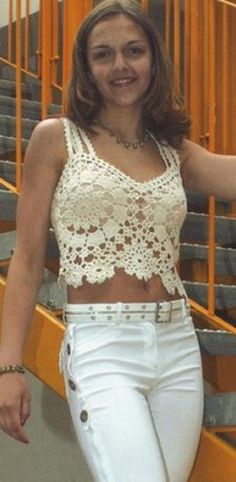 Crochet top, free pattern