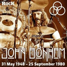 John Bonham died on this day, in 1980. Long may his drums thunder.