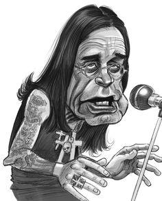 Ozzy Osbourne - Richmond Illustration Inc. Caricature Artist, Caricature Drawing, Drawing Art, Music Artwork, Metal Artwork, Tom Holland, Heavy Metal Art, Celebrity Caricatures, Celebrity Drawings