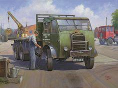 Classic Trucks, Classic Cars, Vintage Posters, Vintage Art, Transport Pictures, Old Lorries, Nostalgic Art, Road Transport, Cartoon Art Styles