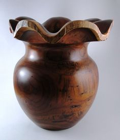 Wood Vase No121204  Cocobolo Natural Edge by conreysa on Etsy, $215.00