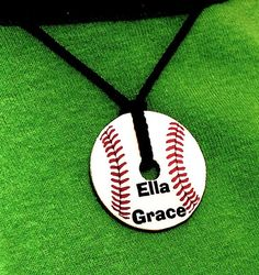 Little League Personalized Gifts  Baseball Softball Washer Pendant NecklaceCustom Name Sports Team via Etsy